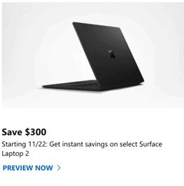 microsoft surface pro 6 black friday